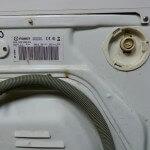 фото стиральной машинки Indesit сзади